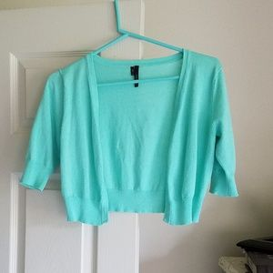 Maurices S Cropped Shrug Seafoam Like-new!